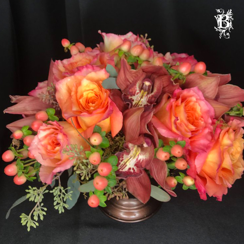 Pink Peach Boho Flower Arrangement Bedford Village Flower Shoppe