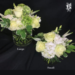 Gold cup fall flower arrangement with roses bedford village flower white and green flower arrangement mightylinksfo