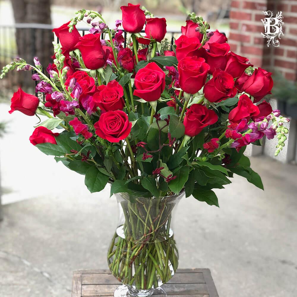 3 Dozen Red Roses - Valentine's Day Flowers