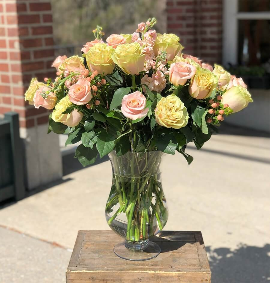 Pink and Yellow Roses