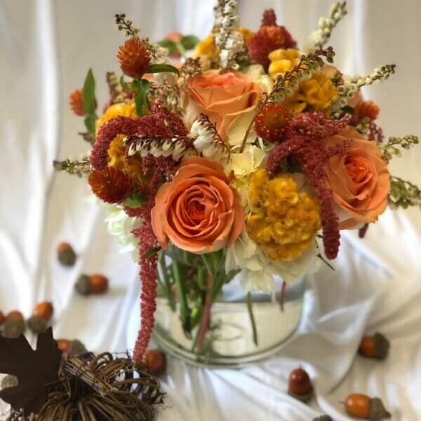 Fall Low and Lush Floral Centerpiece