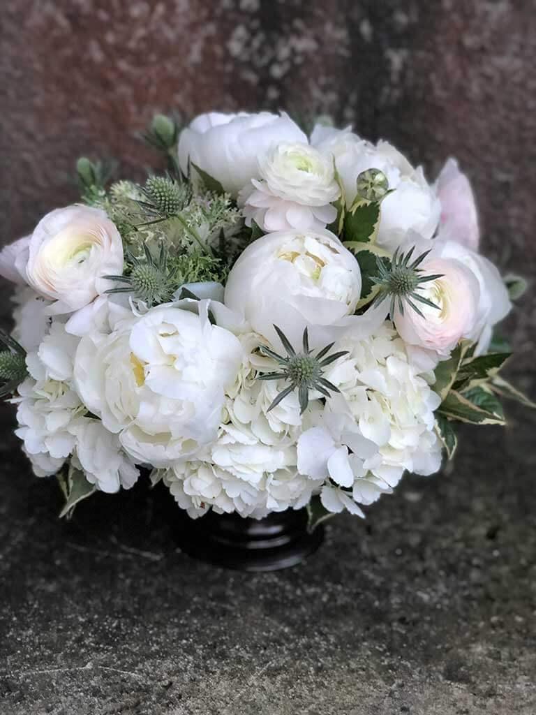 white arrangement thanksgiving arrangements